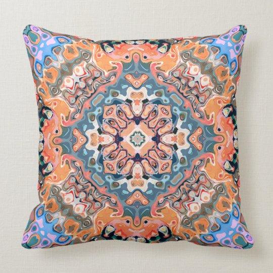 Textured Mandala Pattern Throw Pillow