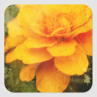 Textured Marigold Square Sticker