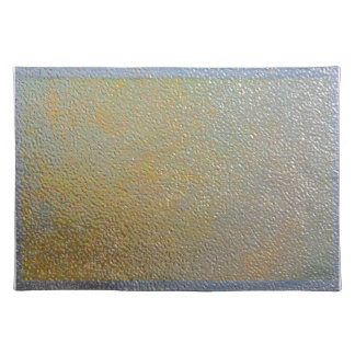 Textured Metal Look Silver and Gold Sleek Chic Placemat