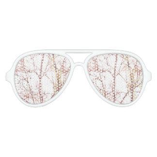 Textured Nature Print Aviator Sunglasses