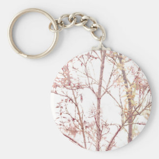 Textured Nature Print Basic Round Button Keychain