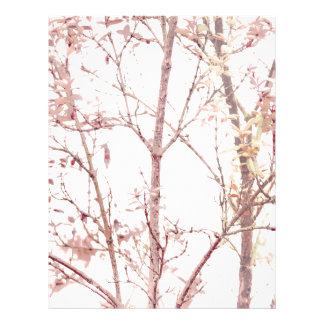 Textured Nature Print Letterhead