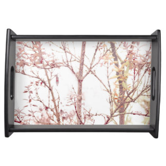 Textured Nature Print Serving Tray