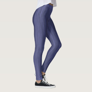 Textured Navy Leggings