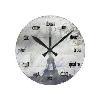 Textured Paris in Lavender Wall Clock