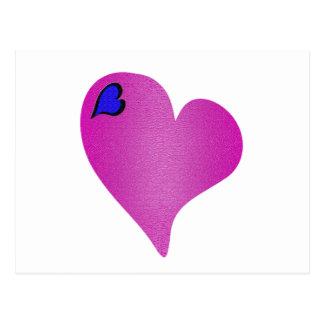 Textured Pink Heart Postcard