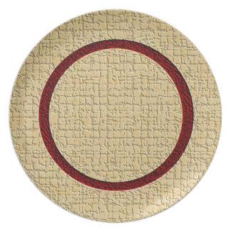 Textured Plate (cranberry/gold)