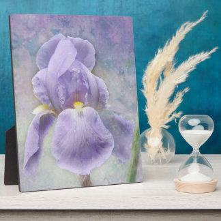 Textured Purple Iris Plaque