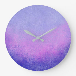 Textured Purple Ombre Large Clock