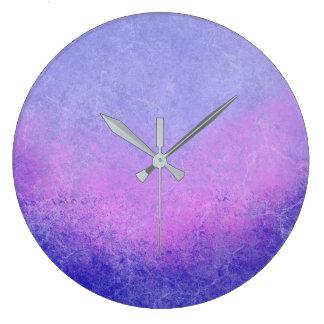 Textured Purple Ombre Wallclocks