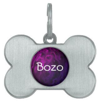 Textured Purple Sphere Pet Name Tag