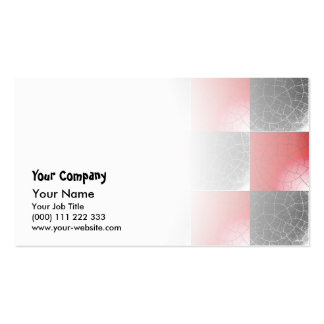 Textured red and black checkerboard business card