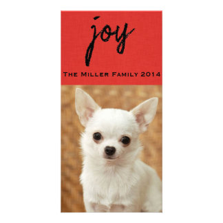 Textured Red Pet Chalkboard Photocard Photo Cards
