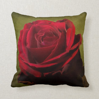 Textured Red Rose Pillow