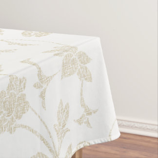 Textured Roses Design Custom Cotton Tablecloth