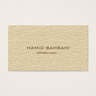 Textured sand design business card