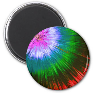 Textured Starburst Tie Dye Magnet