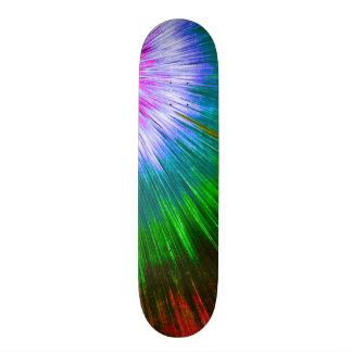 Textured Starburst Tie Dye Skateboard Deck