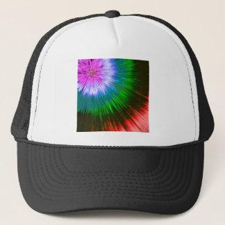 Textured Starburst Tie Dye Trucker Hat