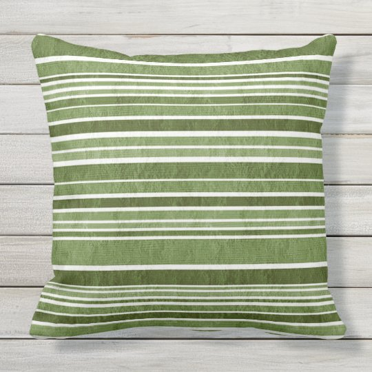 TEXTURED STRIPES IN EMERALD SHADES throw cushion