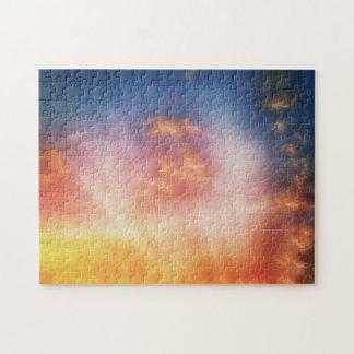 Textured Sun Rays warm Puzzle