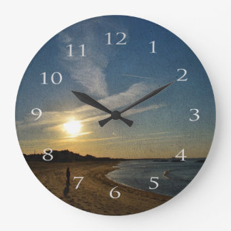 Textured Sunset by Shirley Taylor Large Clock