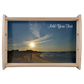 Textured Sunset by Shirley Taylor Serving Tray