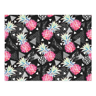 Textured Triangle Pineapple Pattern Postcard