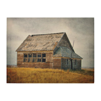 Textured Vintage Schoolhouse Wood Panel