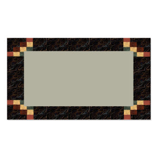 Textured Visual Rich Coffee Brown Business Card 3