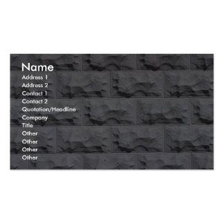 Textured white brick wall business cards