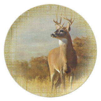 Textured Whitetail Buck Plate