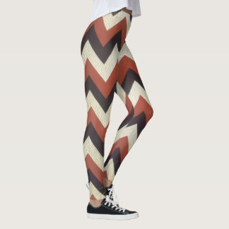 Textured Zigzag Pattern Leggings