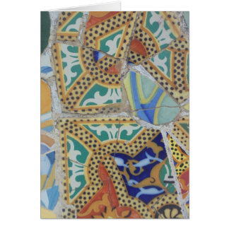 Textures of Spain, Parc Guell, Barcelona Card