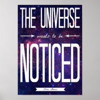 TFiOS que l'univers veut être affiche notée