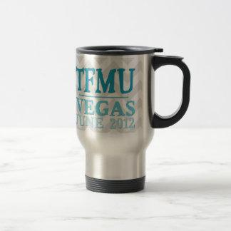 TFMU VEGAS Aqua Chevron Travel Mug