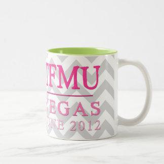 TFMU VEGAS Pink Chevron Mug