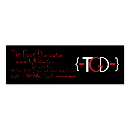 {-TGD-}Promotional Card Business Card Template
