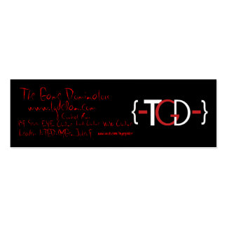 {-TGD-}Promotional Card Pack Of Skinny Business Cards