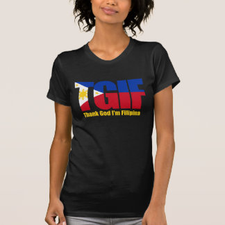 TGIF Filipina with Philippine Flag T-Shirt