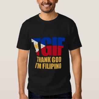 TGIF Filipino with Philippine Flag Tee Shirt
