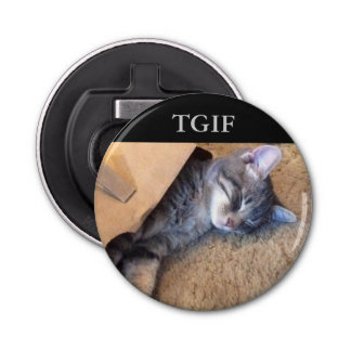 TGIF Magnetic Button Bottle Opener