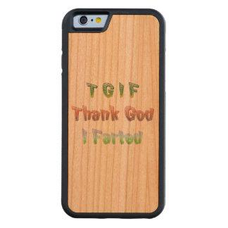 TGIF - Thank God I Farted Cherry iPhone 6 Bumper Case