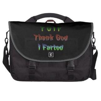 TGIF - Thank God I Farted Commuter Bag