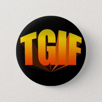 TGIF Yellow Rainbow 2 Inch Round Button