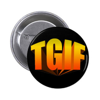 TGIF Yellow Rainbow 2 Inch Round Button