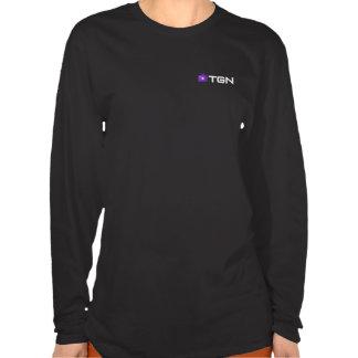 TGN T-shirt, womens — signature, in sleek black