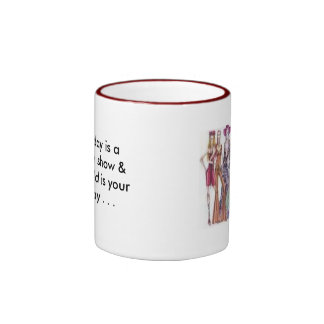 th_a, Everyday is a fashion show & the world is... Ringer Mug