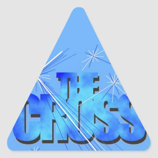 Th Blue Cross Triangle Stickers
