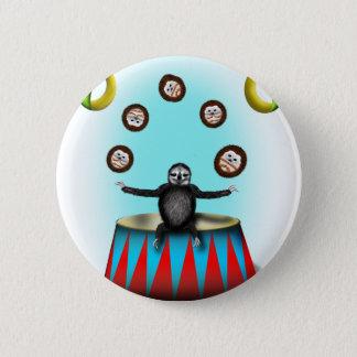 tha amazing hedgehog juggling sloth 2 inch round button